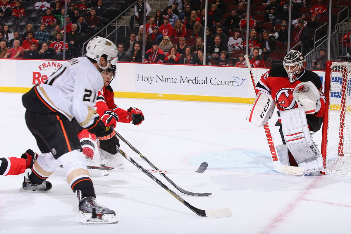 Seconds before the Devils lost in OT, Gelinas his arm is on the left) has already fallen and Merrill (behind Palemier) is just trying to stick with Palmieri (foreground).