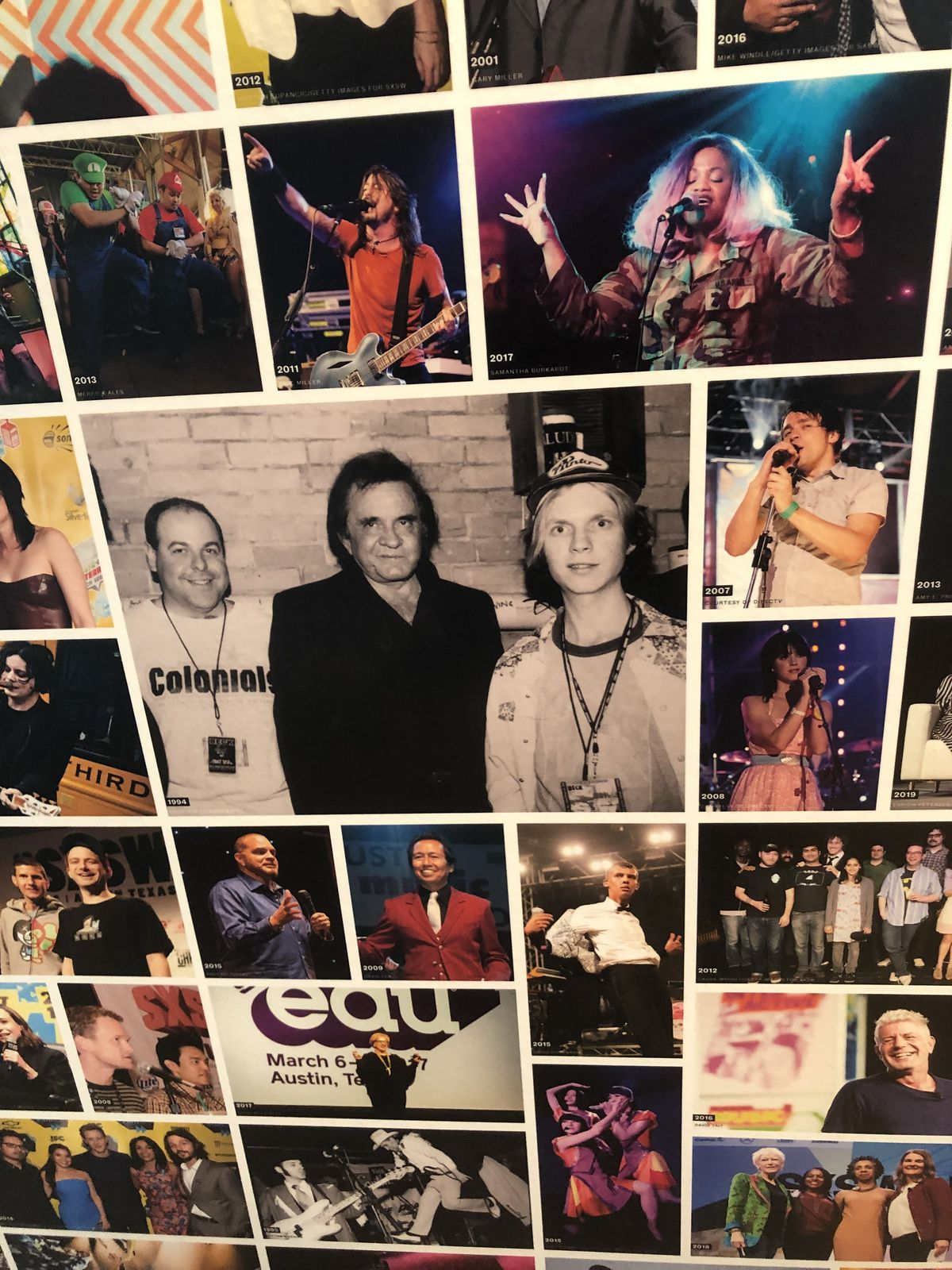 Photo montage of Johny Cash and other musicians