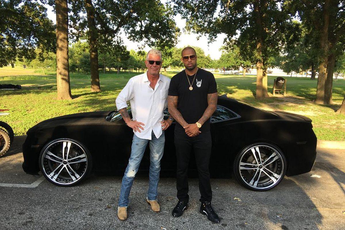 Bourdain & Slim Thugga talk barbecue and black suede paint jobs