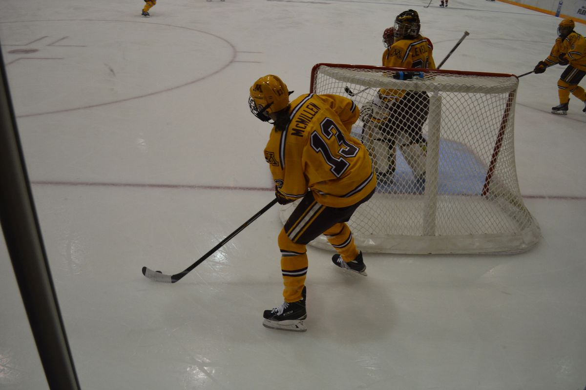 Milica McMillen and the Gophers face Bemidji State in the WCHA Final Face-Off Saturday in Grand Forks, N.D.