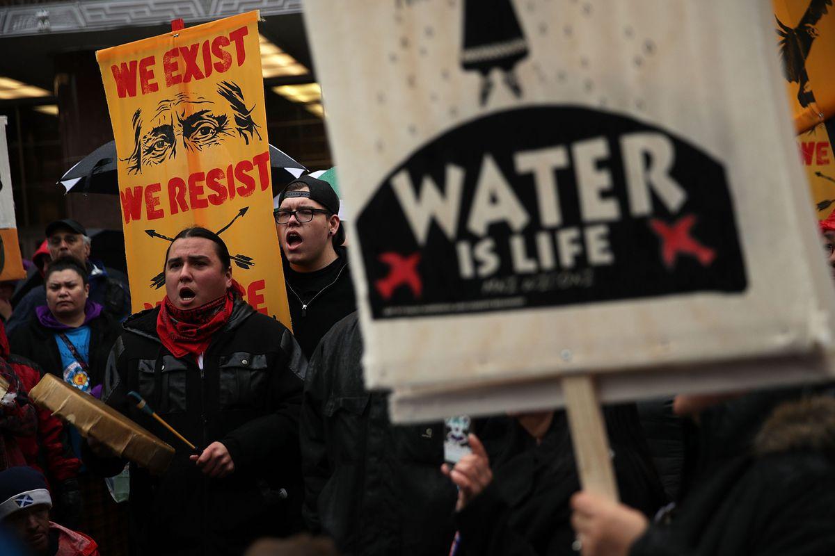 Protests in Washington, DC, over the Dakota Access pipeline.