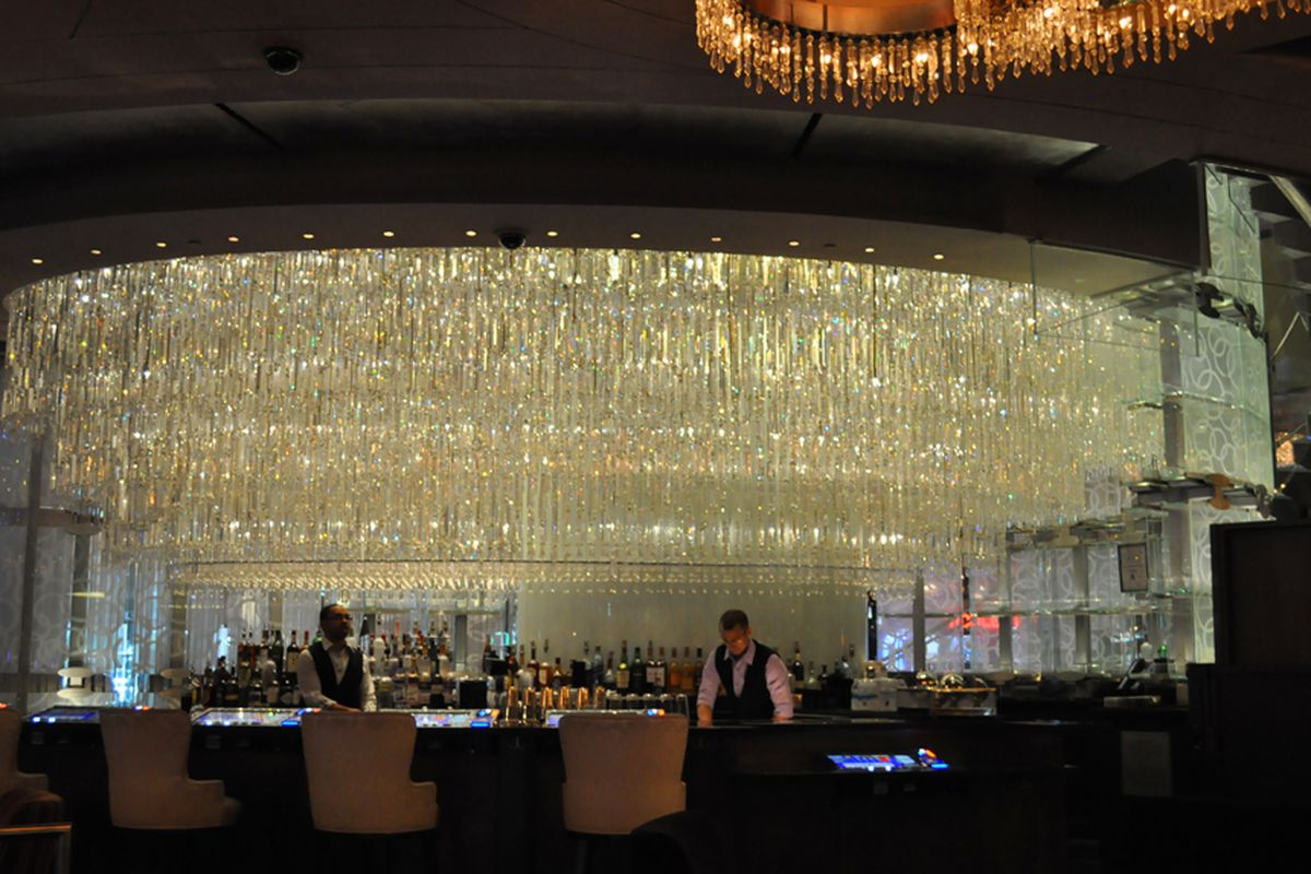 The chandelier bar re opens with video poker eater vegas the lower level of the chandelier bar at cosmopolitan of las vegas re opened over the weekend after a two week makeover and as eater vegas warned arubaitofo Image collections
