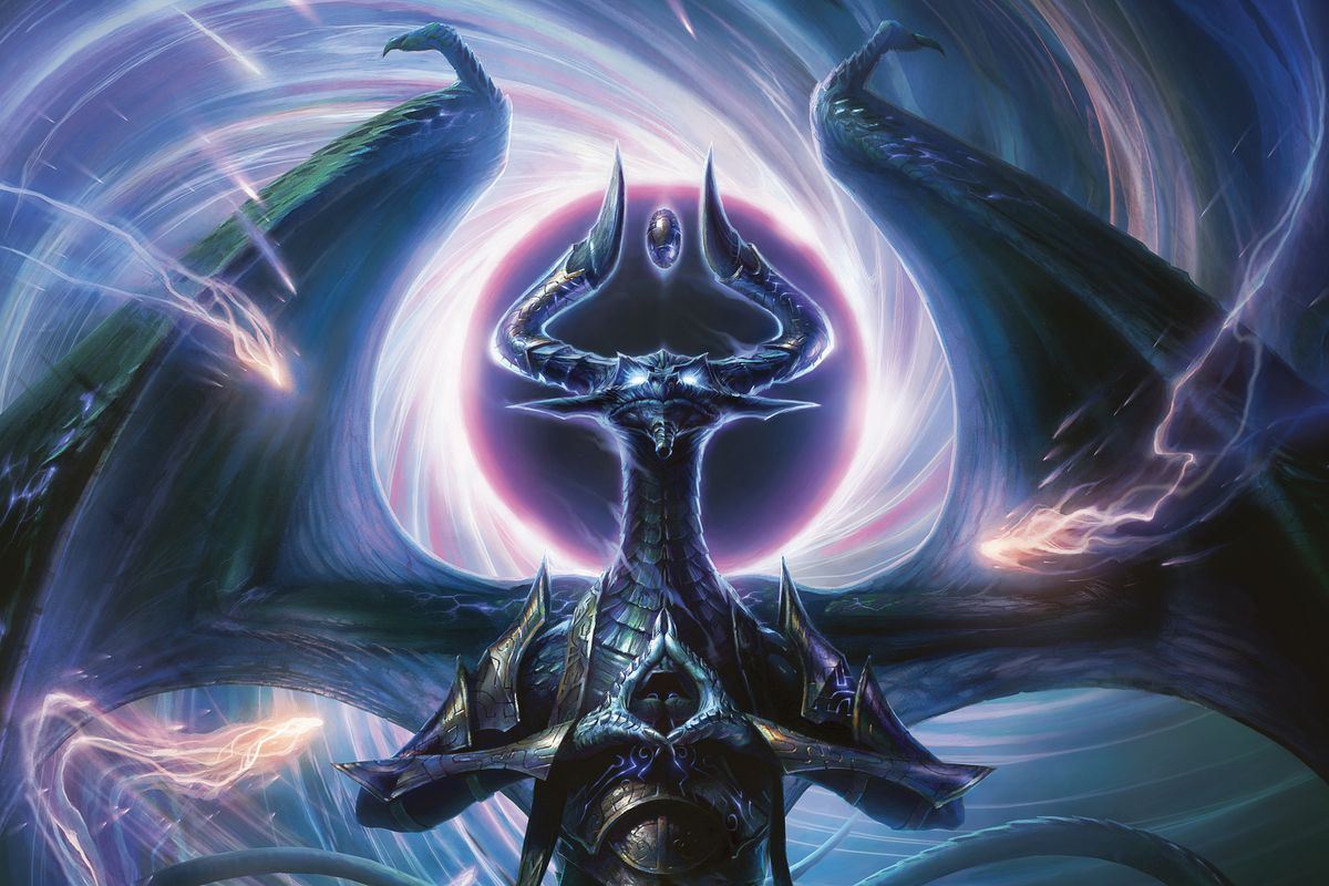 Nicol Bolas Dragon God by Raymond_Swanland