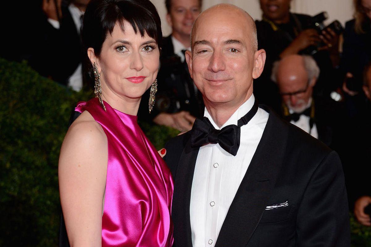 Jeff and Mackenzie Bezos at the 2012 Met Gala, via Getty