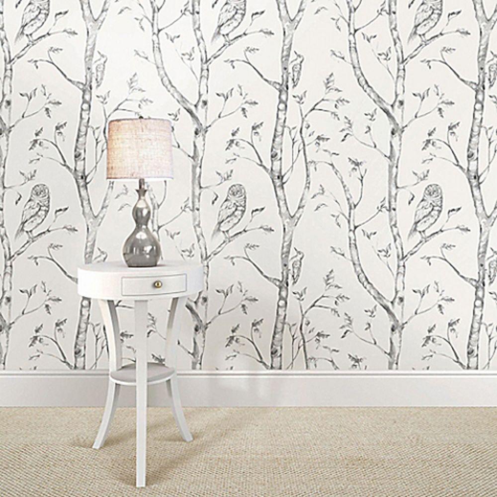 NuWallpaper Woods Peel & Stick Wallpaper in Grey