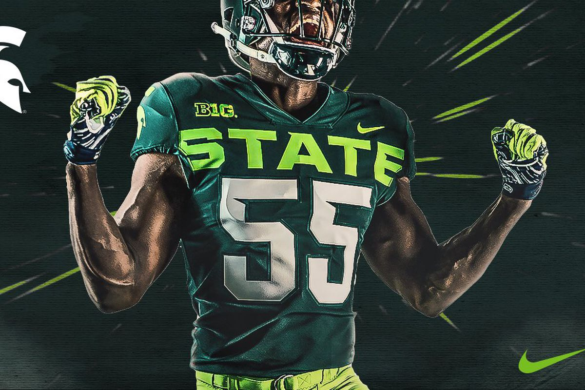 d14a3387ef5 We need to have a conversation about MSU's new football jerseys ...