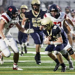 Springville and Skyline compete in a high school football game at Skyline High in Salt Lake City on Thursday, Aug. 19, 2021.