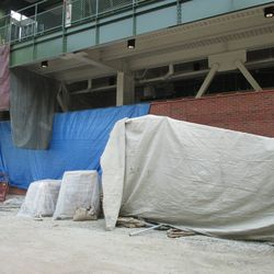 1:23 p.m. View along Waveland, behind the left-field video board -
