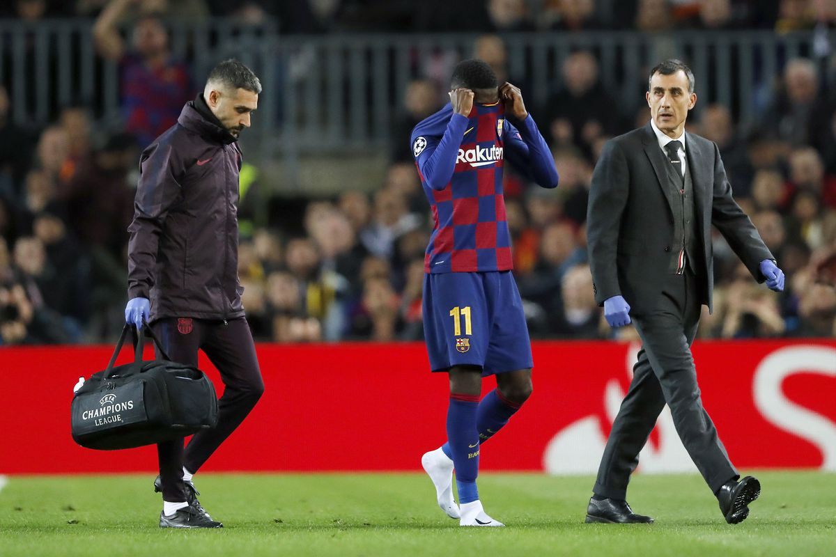 Image result for dembele injury
