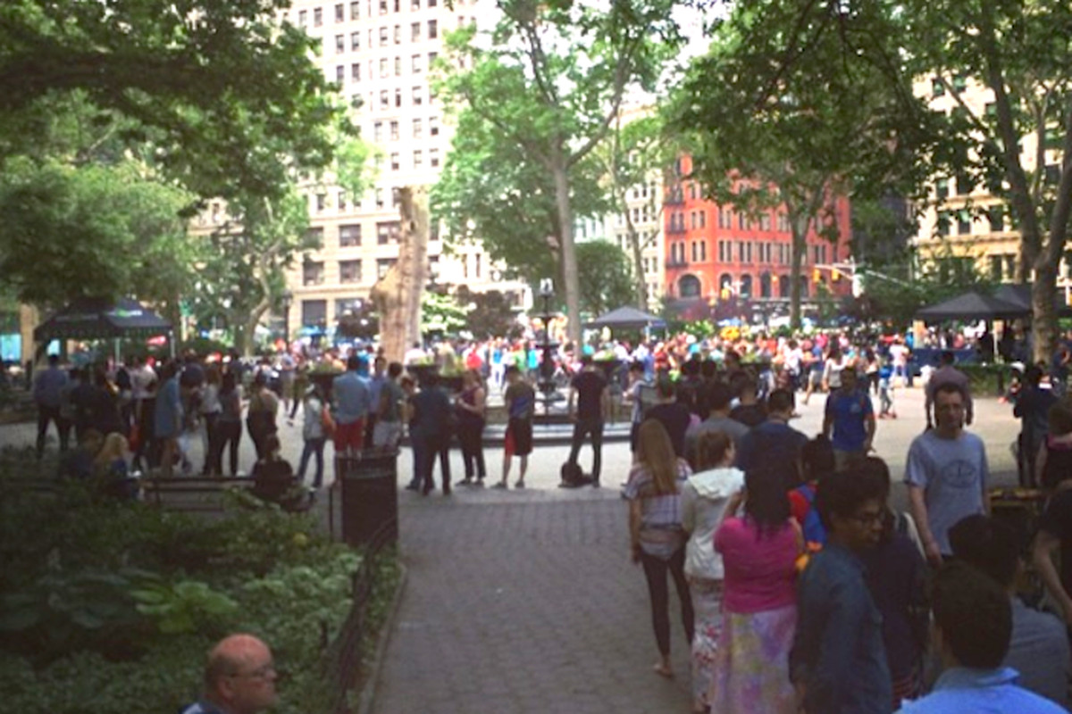 The line at Shake Shack Madison Square Park, NYC