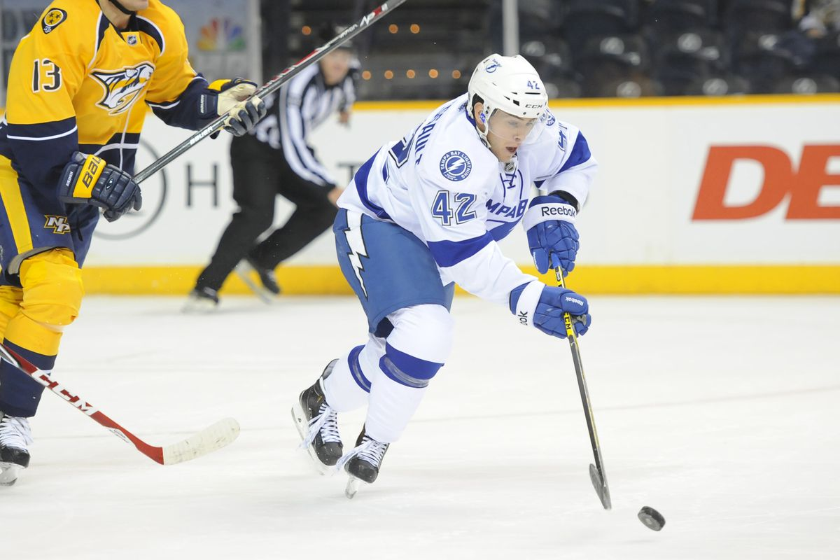 Jonathan Marchessault is among a small group of prospects who remain with the Lightning after major roster cuts Saturday.