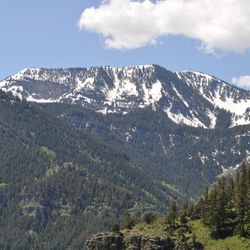 A view from the Wind Caves trail offers a look at Logan Canyon.