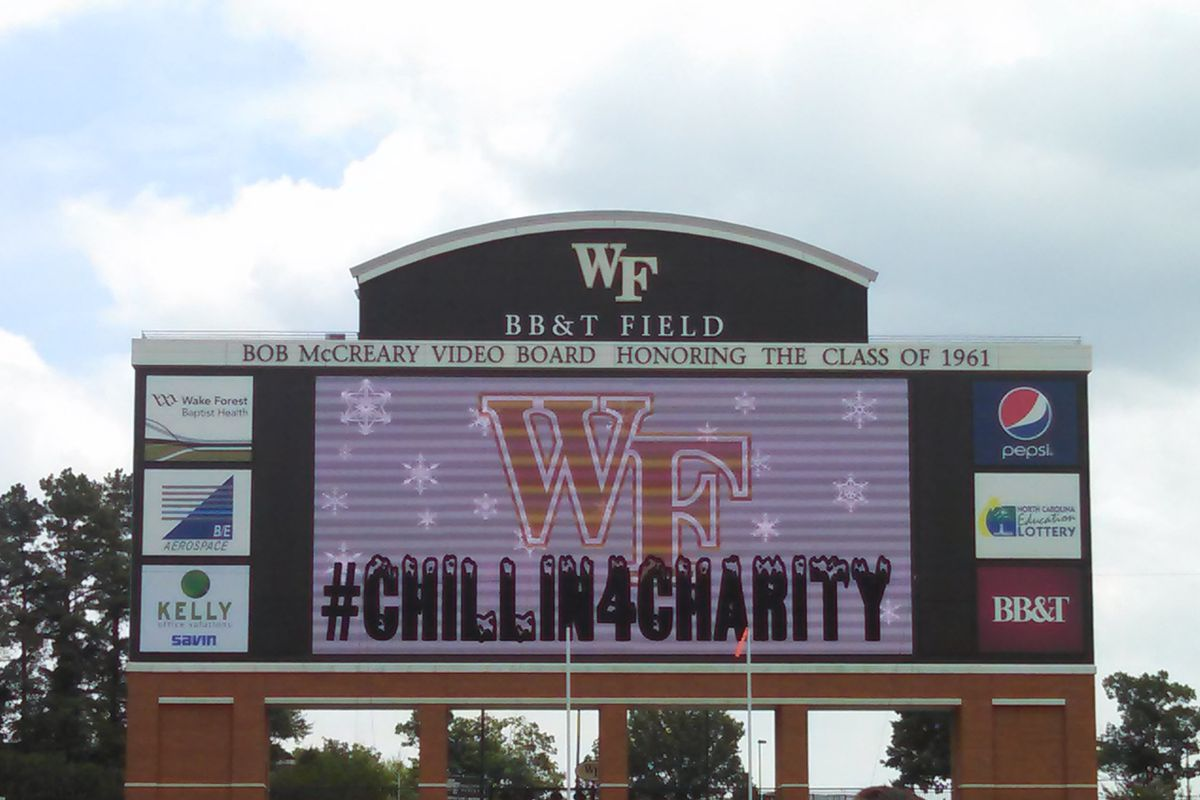 Wake Forest held it's first ever version of Chillin4Charity Monday at BB&T Field