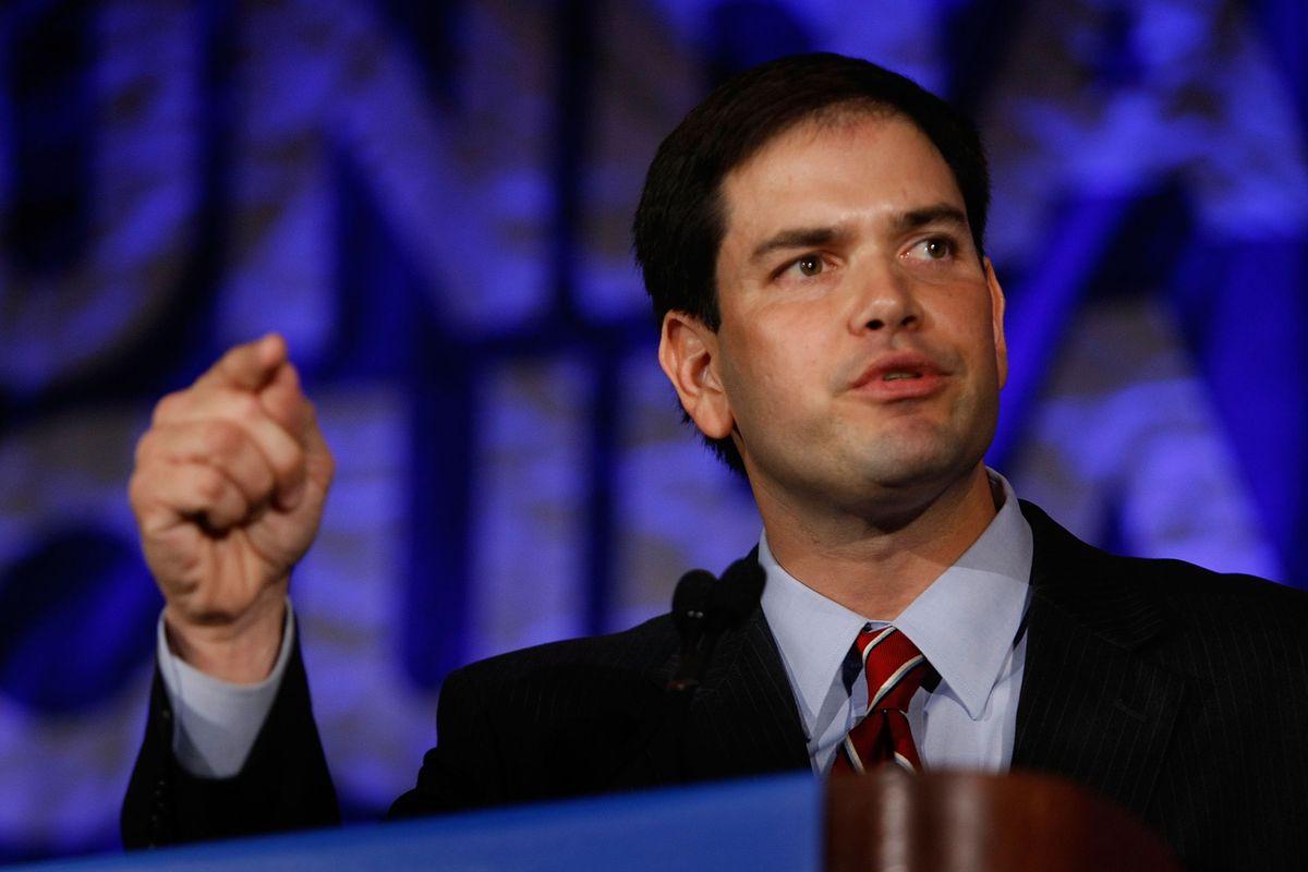 Florida House Speaker Rubio in 2008.