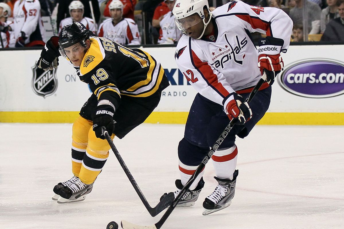 Joel Ward and the Caps start off the day by taking on Boston at 2:00 p.m. Central.