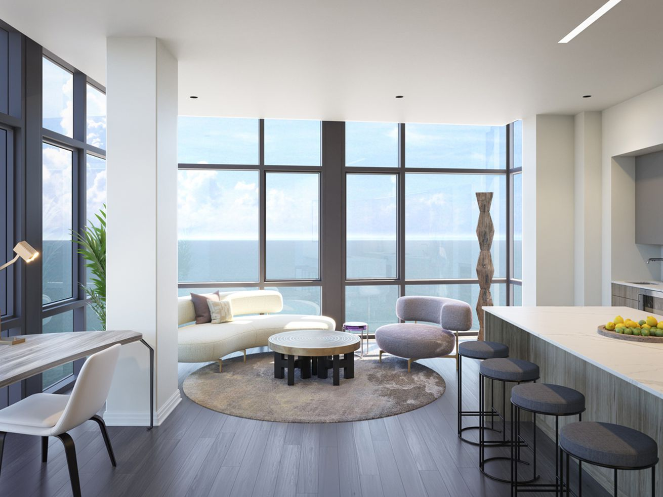 Lake Michigan views take center stage at 61 E. Banks.