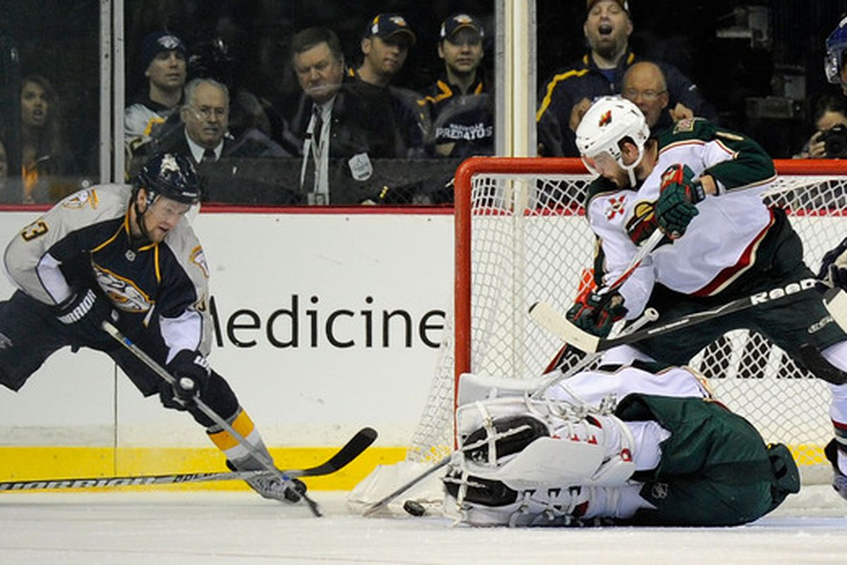 How come every picture from the Nashville game is of Theo on the ice? Strange.