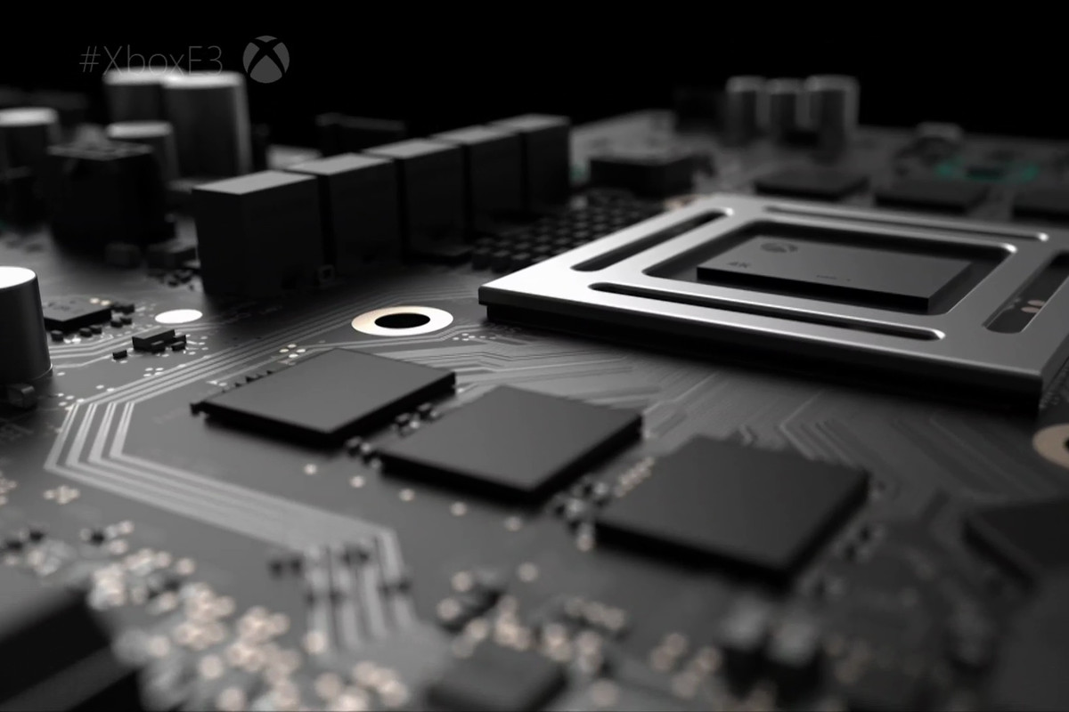 A glimpse of the innards of Microsoft's Project Scorpio.