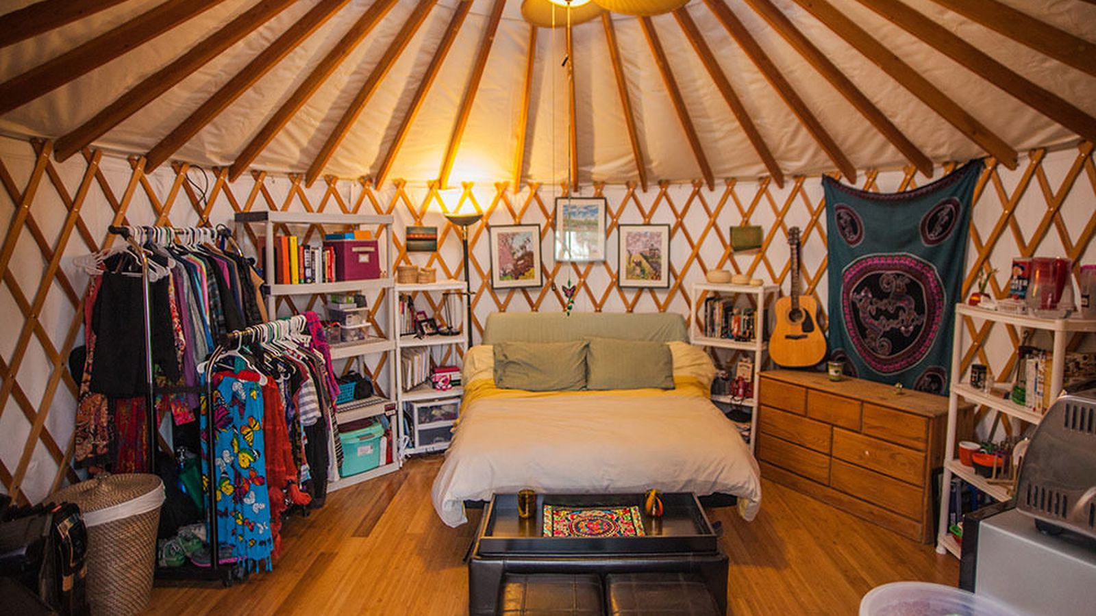 Hillside House With Backyard Yurt Asks 599k In Highland
