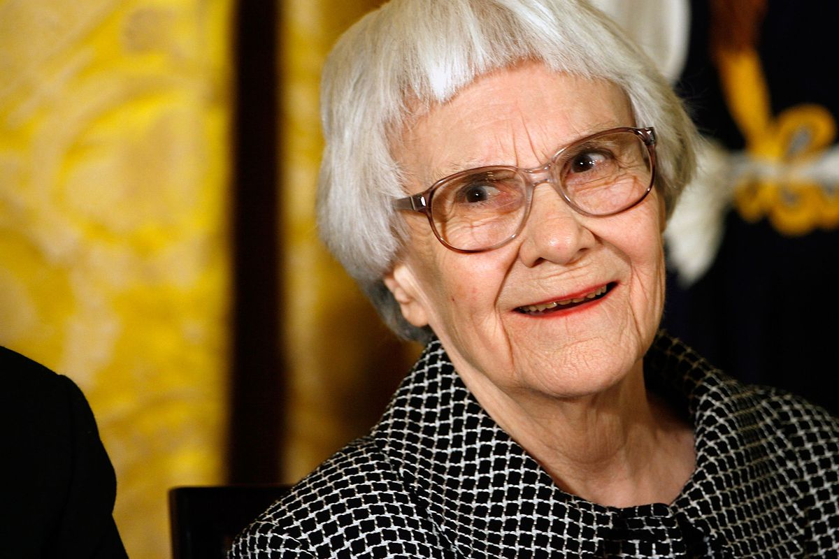 Pulitzer Prize winner and To Kill A Mockingbird author Harper Lee smiles before receiving the 2007 Presidential Medal of Freedom in the East Room of the White House November 5, 2007, in Washington, DC.