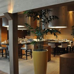 Tetsu sits to the right of the main dining room of BarMasa.