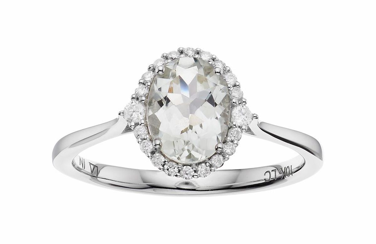 LC Lauren Conrad 10k White Gold Diamond Oval Halo Ring, $1,000 (or two for $1,500, I guess??)