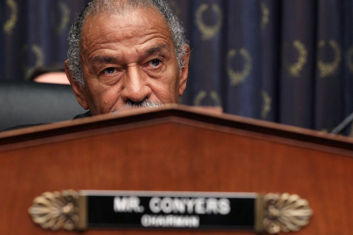 Rep. John Conyers — who is 85 years old — lists his wife's student loan debt on his financial disclosure form.
