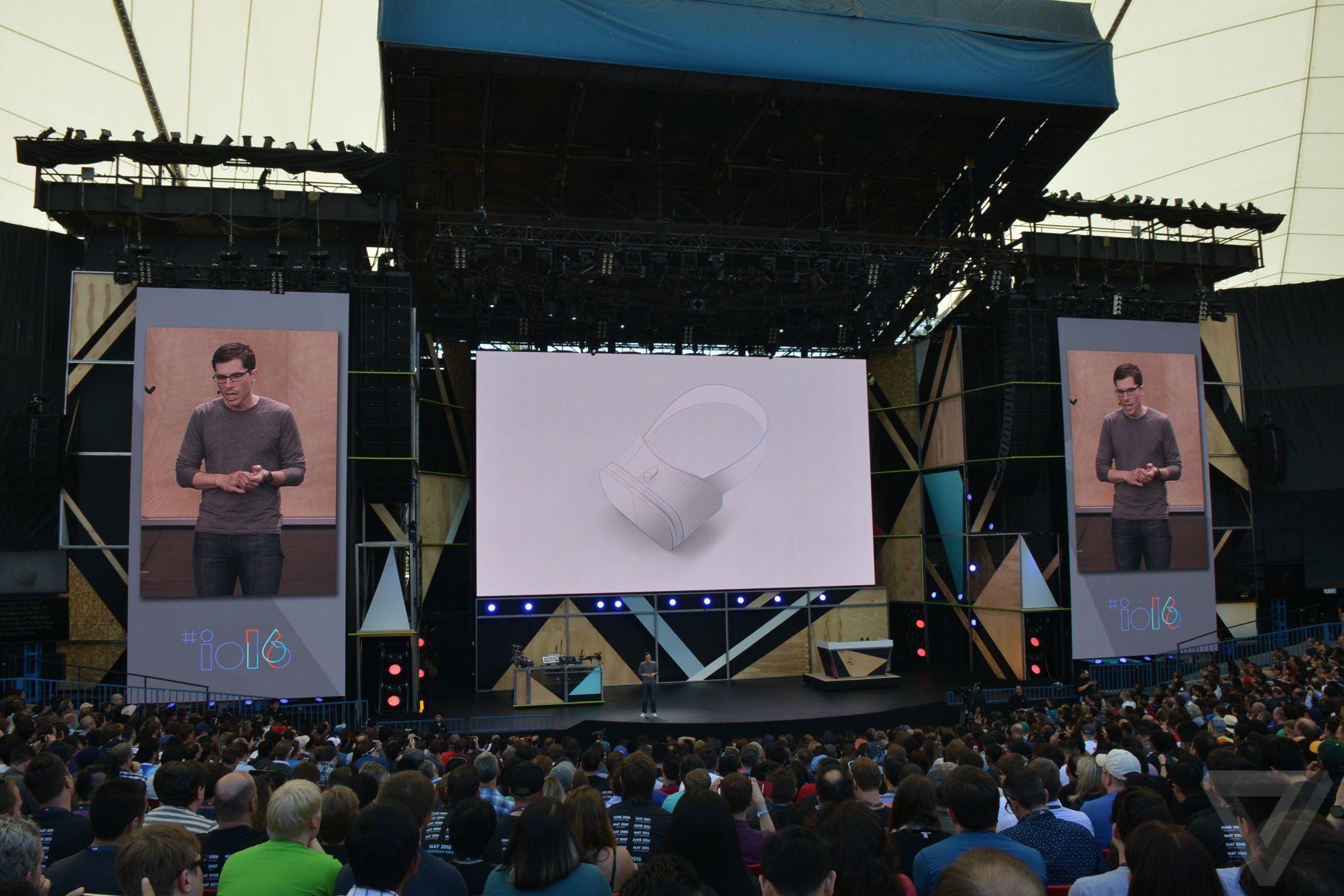 Daydream at Google I/O 2016 announcement photos