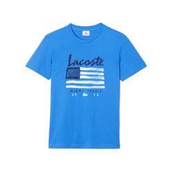 "Kids tennis flag graphic T-shirt, <a href=""https://www.lacoste.com/us/lacoste-sport/kids/t-shirts/kids-tennis-flag-graphic-t-shirt/TJ3171-51.html?dwvar_TJ3171-51_color=166"">$30</a>"