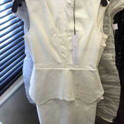 White peplum dress, $275 (was $890)