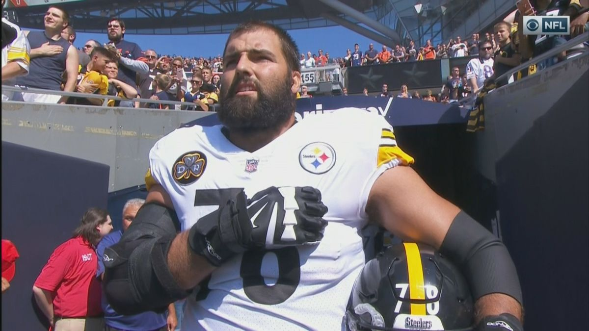 ec2fbda45bb Alejandro Villanueva has the Steelers' No. 1-selling jersey after going out  for anthem without teammates