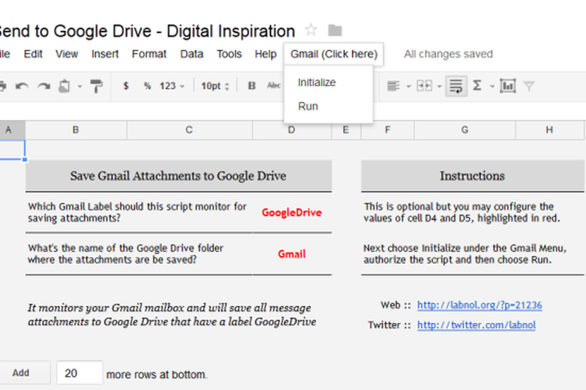 how to send a drive folder to gmail