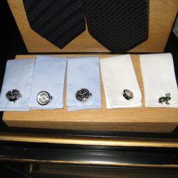 Jan Leslie watch cufflinks, $400