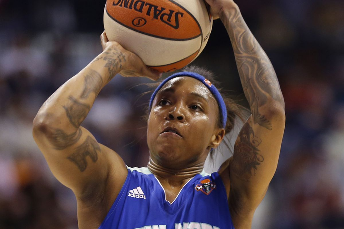 Cappie Pondexter led the Liberty in scoring on Tuesday, but it was the team's defense that led them to victory.