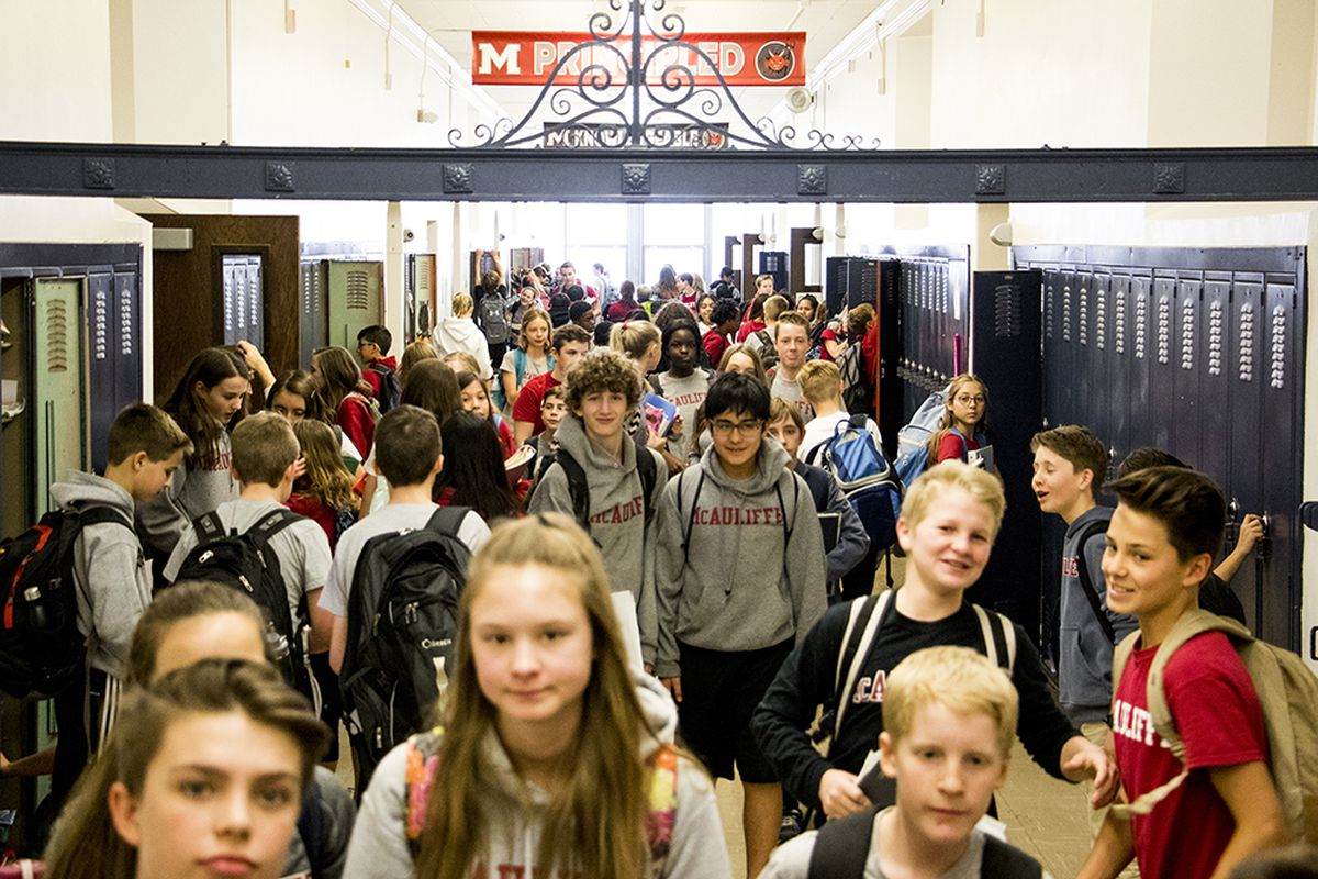 Students at McAuliffe International School. The school was among the most-requested this year.(Kevin J. Beaty/Denverite)