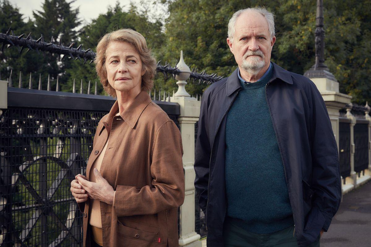 Charlotte Rampling and Jim Broadbent in The Sense of an Ending