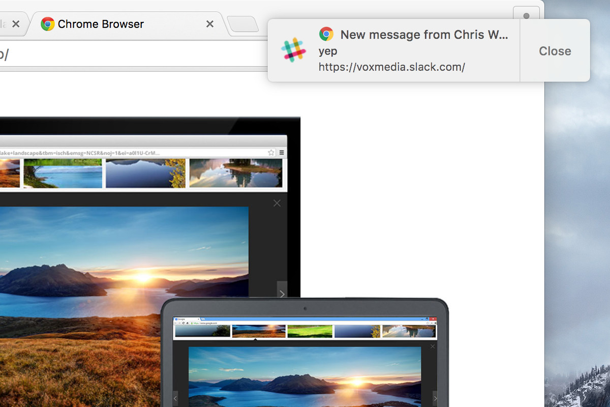 Chrome is starting to support native OS X notifications