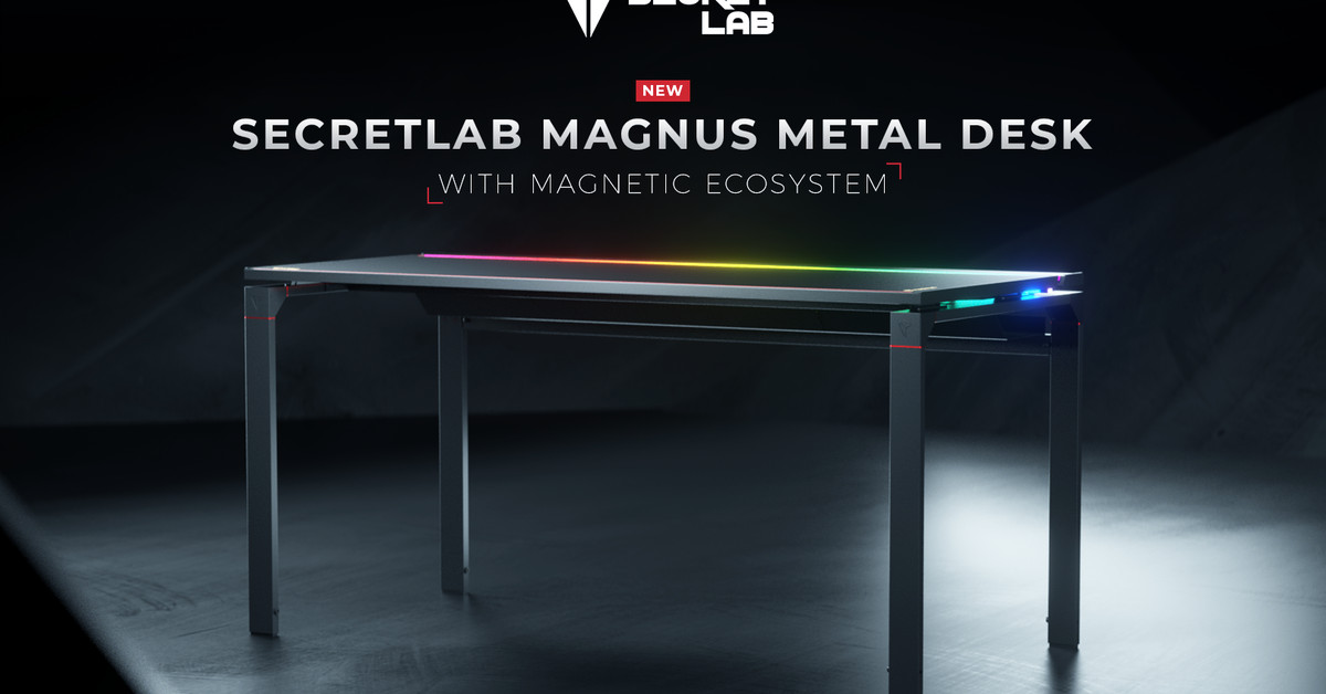 Secretlab's first PC desk keeps your cables under control with the help of magnets – The Verge