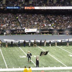 Halftime field decoration.