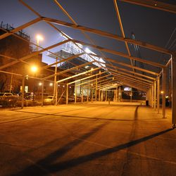 The VIP/Player's parking lot tent frame in the Blue Lot -
