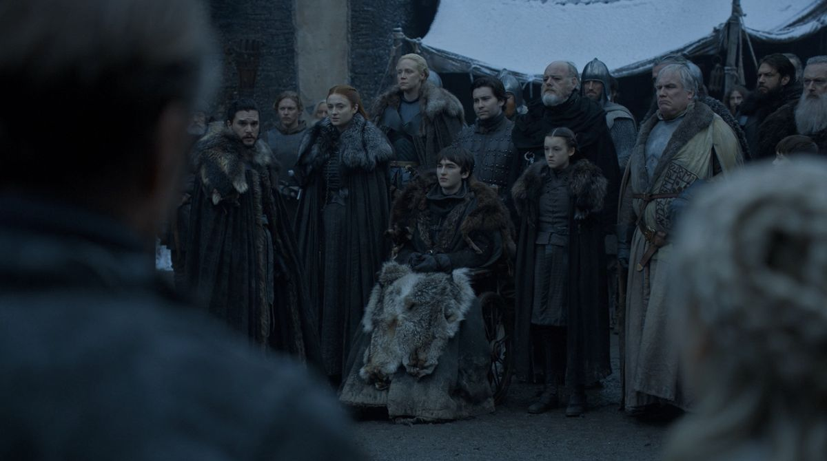 Game of Thrones S08E01 Arrival at Winterfell