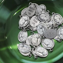 Charms are left for visitors at Community First! Village in Austin, Texas, on Tuesday, Oct. 20, 2020.