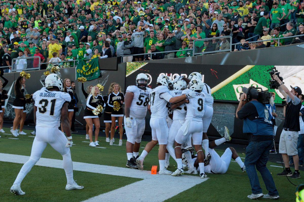 NCAA Football: Colorado at Oregon