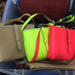 Small leather crossbody bags, $90