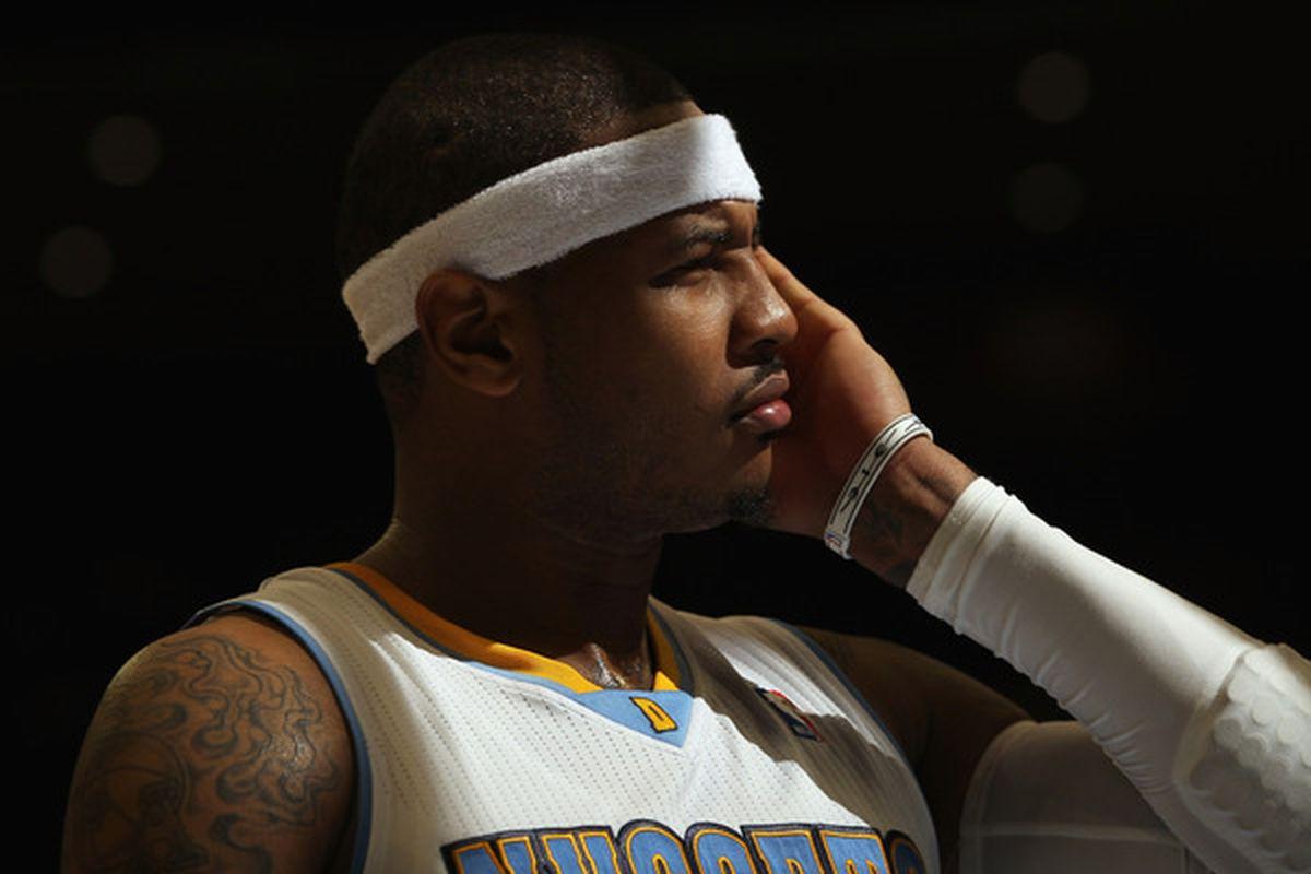 Pensive Carmelo is pensive.