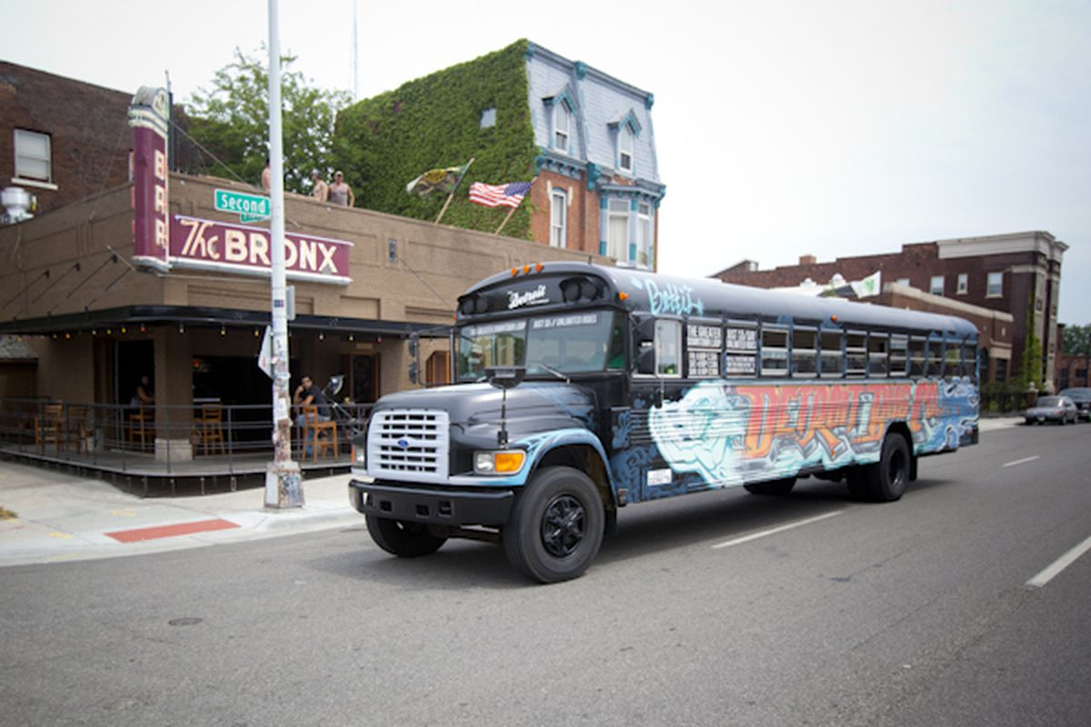 """Photos via <a href=""""http://thedetroitbus.com""""> </a><span class=""""credit""""> the Detroit Bus Company <a href=""""http://reuther.wayne.edu/node/10264""""> and the Walter Reuther Library</a></span>"""