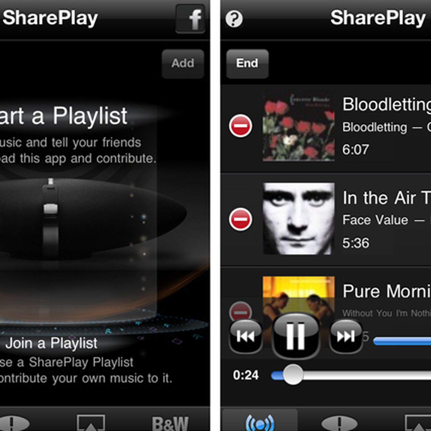 Bowers & Wilkins free Zeppelin Air app makes party playlists