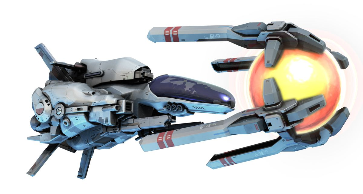 render of a spaceship from R-Type Final 2