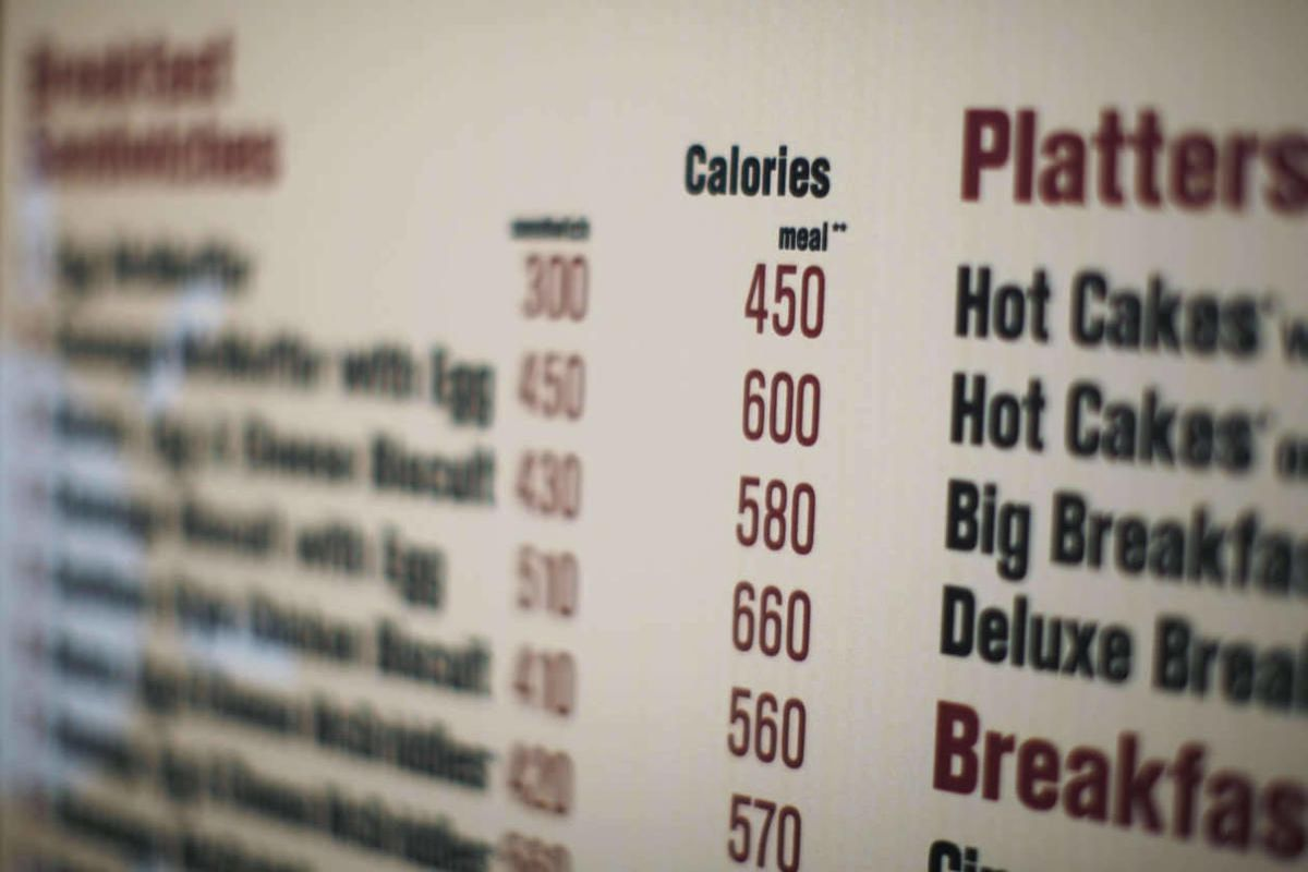 In this July 18, 2008 file photo, calories of each food item appear on a McDonalds drive-thru menu in New York.