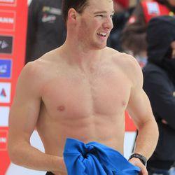 Gold medal cross country skier Dario Cologna